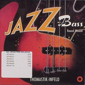 Thomastik Jazz snarenset basgitaar, nickel roundwound, 6-string 029-043-051-068-089-118, longscale