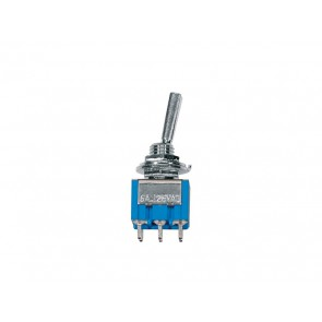 Mini toggle switch 3-way, on-off-on, nickel