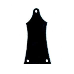 Truss rod cover, black, 2 ply, black - white