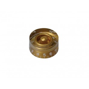 Speed knob (hatbox), transparent gold, for inch type pot shaft