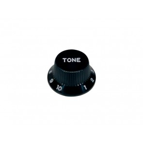 Bell knob,Strat, black, tone, for inch type pot shaft