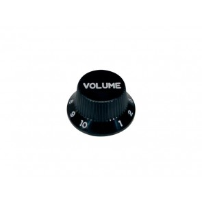 Bell knob,Strat, black, volume, for inch type pot shaft