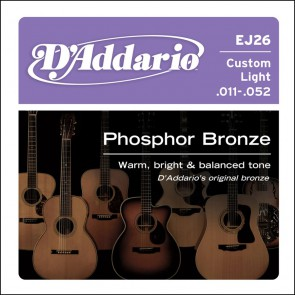 D'Addario Phosphor Bronze snarenset akoestisch, phosphor bronze, custom light, 011-015-022-032-042-052