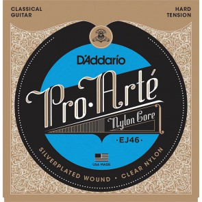 D'Addario Pro Arte snarenset klassiek, hard tension, clear nylon trebles en silverplated basses