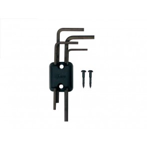 Allen wrench set with holder and screws, 4 sizes, 1.5/2.0/2.5/3.0mm