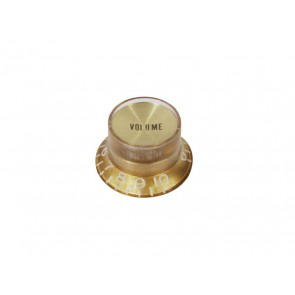Bell knob SG model, gold with gold cap, volume, for inch type pot shaft
