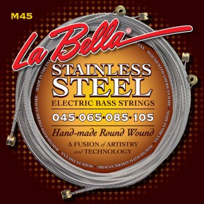 LaBella Hard Rockin' Steel snarenset basgitaar, roundwound, light, 045-065-085-105 longscale