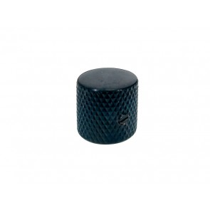 Dome knob, metal, black, diam 19,0mmx19,0mm, with set screw, shaft size 6,1mm, fits CTS