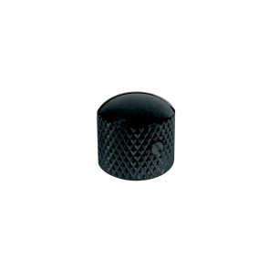 Dome knob, metal, black
