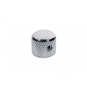 Dome knob, metal, chrome, diam 15,0mmx15,0mm, with set screw allen type, shaft size 6,1mm (