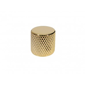 Dome knob, metal, gold, diam 19,0mmx19,0mm, push on, shaft size 6,0mm
