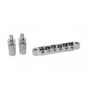 "Brug voor e-gitaar, ""tune'o matic"", chroom, stud spacing 74,0mm, stud diam 6,0mm"