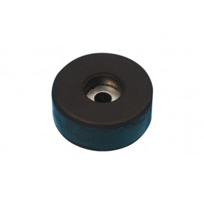 Rubber foot with steel insert 38 x 15 mm