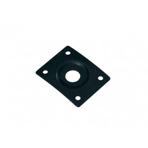 Jack plate, rectangular, recessed hole, black, slanted metal