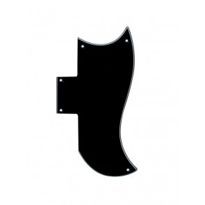 Pickguard SG-model, 3 ply, black