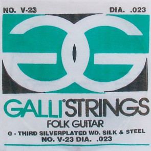 Galli Folk Guitar G-3 snaar voor akoestische gitaar, 023, silverplated wound on silk and steel