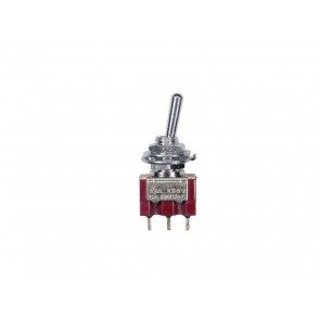 Mini toggle switch 2-way, on-on, 1-pole, nickel