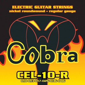 Cobra snarenset elektrische gitaar, nickel roundwound, regular: .010-.013-.017-.026-.036-.046