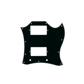 Pickguard SG-model custom, 3 ply, black
