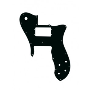 Pickguard Tele custom, 3 ply, black