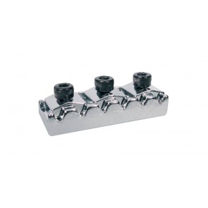 Toplock, topkam with string lock, chroom, Floyd Rose style, length: 4,26 cm