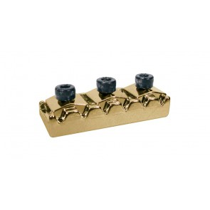 Toplock, topkam with string lock, goud, Floyd Rose style, length: 4,26 cm