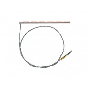 Piezo pickup, 69x2,5mm, copper foil, with 2,5mm jack