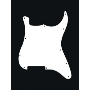 Pickguard Strat, 1 ply, white, no holes (only screw holes)