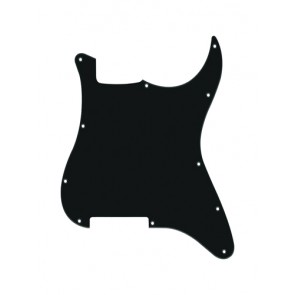 Pickguard Strat, 1 ply, black, no holes (only screw holes)