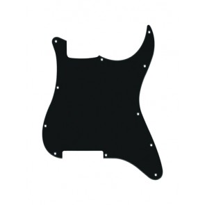 Pickguard Strat, 1 ply, black mat, no holes (only screw holes)