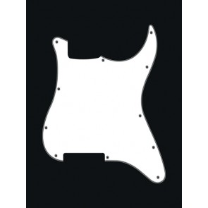 Pickguard Strat, 3 ply, white, no holes (only screw holes)