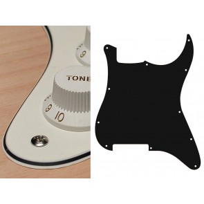 Pickguard Strat, 3 ply, vintage white, no holes (only screw holes)