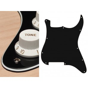 Pickguard Strat, 3 ply, black, no holes (only screw holes)