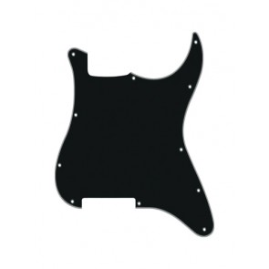 Pickguard Strat, 4 ply, black, no holes (only screw holes)