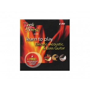 Rockhouse lessons dvd, rockhouse method, free web account /electric /classic /acoustic /bass