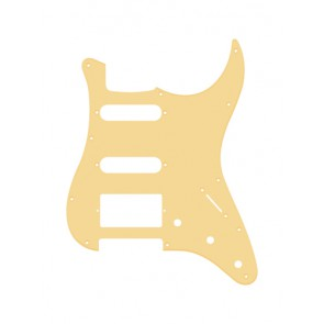 Pickguard Strat, 1 ply, cream, SSH, 3 pot holes, 3-5 switch
