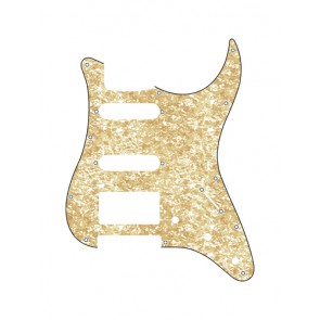 Pickguard Strat, 3 ply, pearl cream, SSH, 3 pot holes, 3-5 switch
