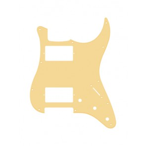 Pickguard Strat, 1 ply, cream, HH, 3 pot holes, 3-5 switch