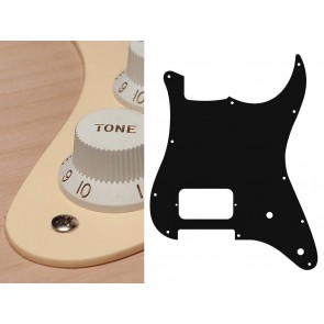 Pickguard Strat, 1 ply, cream, H, 2 pot holes