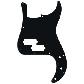 Pickguard P-Bass, 1 ply, black mat, standard