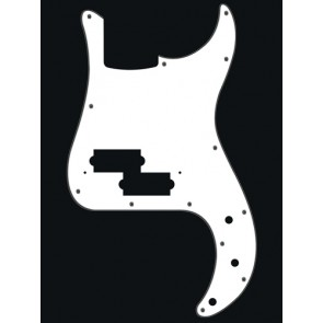 Pickguard P-Bass, 3 ply, white, standard