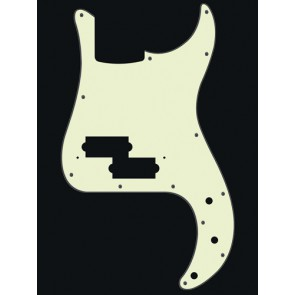 Pickguard P-Bass, 3 ply, mint green, standard