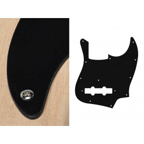 Pickguard Jazz bass, 1 ply, black, standard