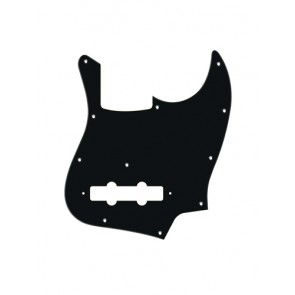Pickguard Jazz bass, 1 ply, black mat, standard