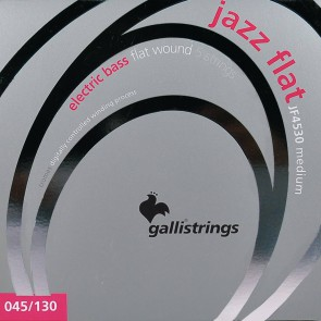 Galli Jazz Flat snarenset 5-snarige basgitaar, polished stainless steel medium, 045-065-085-105-130