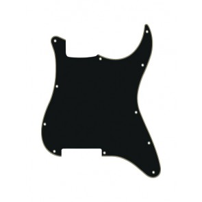Pickguard Strat, 3 ply, black and cream, no holes (only screw holes)