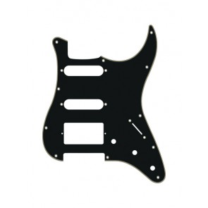 Pickguard Strat, 3 ply, black and cream, SSH, 3 pot holes, 3-5 switch