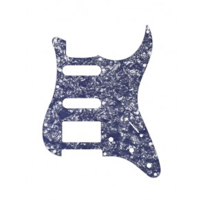 Pickguard Strat, 2 ply, pearl ocean blue, SSH, 3 pot holes, 3-5 switch