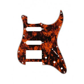 Pickguard Strat, 3 ply, marble orange, SSH, 3 pot holes, 3-5 switch