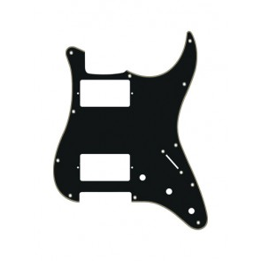 Pickguard Strat, 3 ply, black and cream, HH, 3 pot holes, 3-5 switch